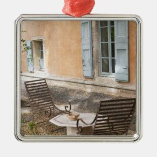 Prieure de St Jean de Bebian. Pezenas region. Silver-Colored Square Decoration