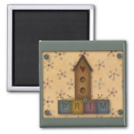 Prim Birdhouse Magnet