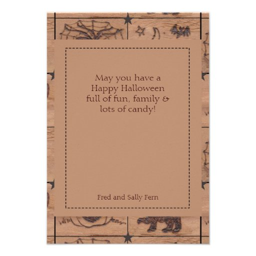 Prim Halloween Patches Single Page Greeting Invitation