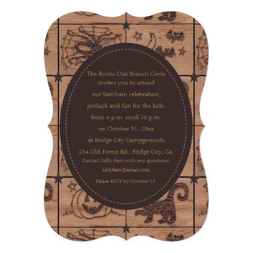 Prim Samhain Patches Woodburned Retro Cards