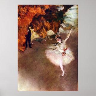 Prima Ballerina by Edgar Degas Poster