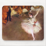 Prima Ballerina by Edgar Degas, Vintage Ballet Art Mouse Pad