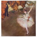 Prima Ballerina by Edgar Degas, Vintage Ballet Art Cloth Napkins