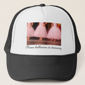 Prima ballerina in training hat