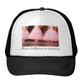 Prima ballerina in training hat