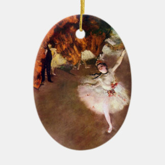 Prima Ballerina, Rosita Mauri by Edgar Degas Christmas Ornament