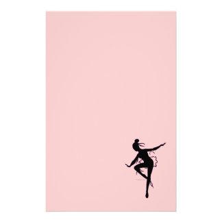 Prima Ballerina Silhouette Stationery