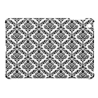 Prima Damask Horizontal Ptn Black on White iPad Mini Case