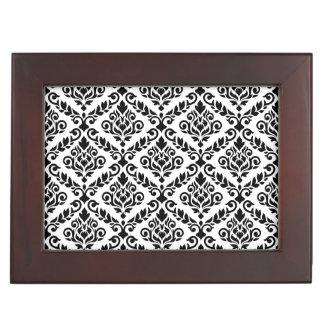 Prima Damask Pattern Black on White Keepsake Box