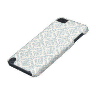 Prima Damask Pattern Blue on Cream iPod Touch (5th Generation) Case