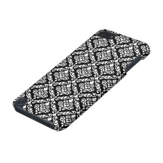 Prima Damask Pattern White on Black iPod Touch 5G Cover