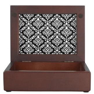 Prima Damask Pattern White on Black Memory Box
