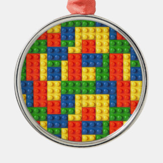 Primary Blocks Christmas Ornament