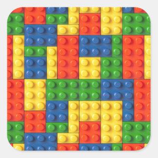 Primary Blocks Square Sticker