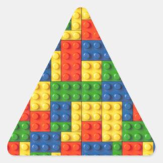 Primary Blocks Triangle Sticker