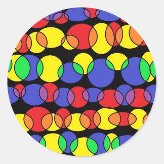 primary bubbles round sticker
