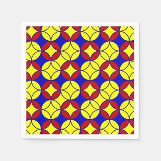 Primary Circles-10-PAPER NAPKINS Paper Napkins