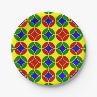 Primary Circles-1-PAPER PLATES 7 Inch Paper Plate