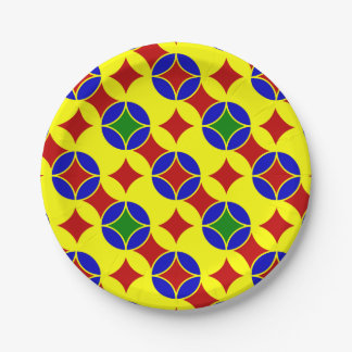 Primary Circles-3-PAPER PLATES 7 Inch Paper Plate