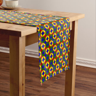 Primary Circles-9-COTTON TABLE RUNNER 14x72in