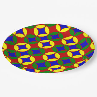 Primary Circles-9-PAPER PLATES 9 Inch Paper Plate
