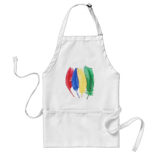 Primary color artistic feathers aprons