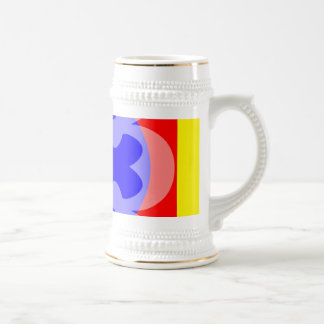 primary color flower mugs