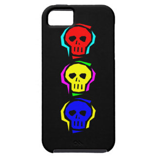 Primary Color Skulls iPhone 5 Cases