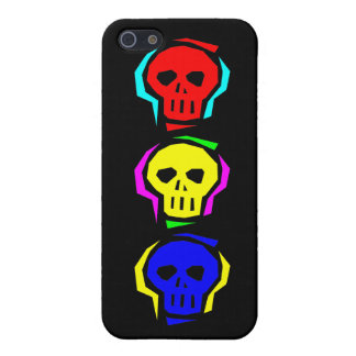 Primary Color Skulls iPhone 5 Cover