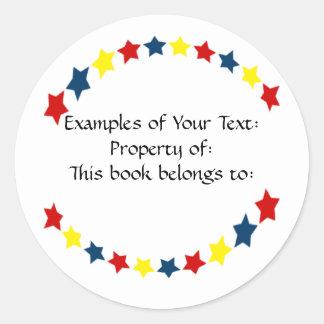 Primary Color Stars Sticker