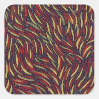 primary color swirls square stickers