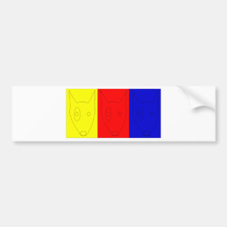 Primary Color Terriers Bumper Sticker