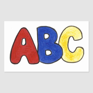 Primary Colors ABC Spelling Teacher Stickers