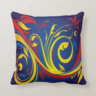 Primary Colors American MoJo Pillow