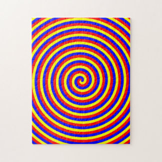 Primary Colors. Bright and Colorful Spiral. Jigsaw Puzzle