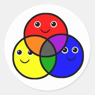 Primary Colors Classic Round Sticker