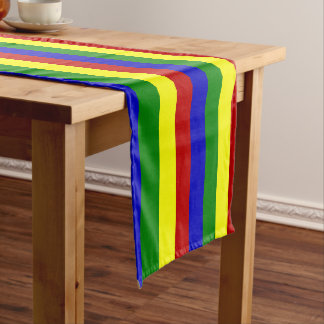 Primary Colors-FAT STRIPES-COTTON TABLE RUNNER