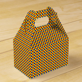 Primary Colors-Gingham-4-Party Favor Box-gable Wedding Favour Box