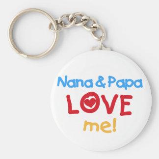 Primary Colors Nana and Papa Love Me Keychain