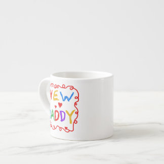 Primary Colors New Daddy Gifts Espresso Mug