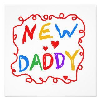Primary Colors New Daddy Gifts Custom Announcements
