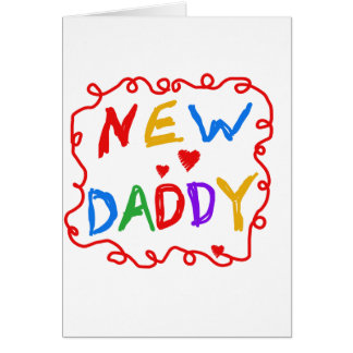 Primary Colors New Daddy Tshirts and Gifts Cards