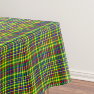 Primary Colors-Plaid 11-COTTON TABLECLOTH 52x70in