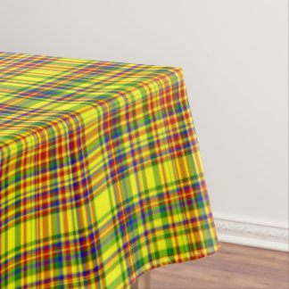 Primary Colors-Plaid 1-COTTON TABLECLOTH 60x108in