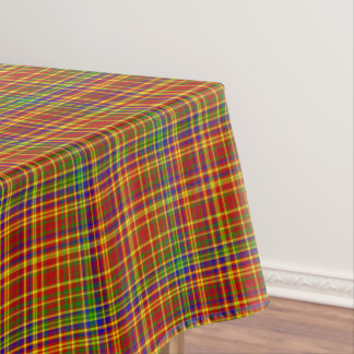 Primary Colors-Plaid 7-COTTON TABLECLOTH 52x70in