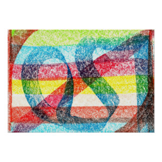 Primary Colors Rainbow Poster