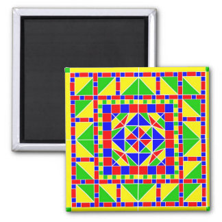 Primary Colors Rangoli 2 Magnet
