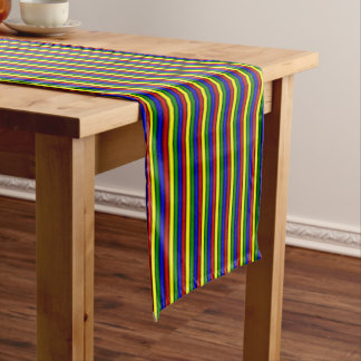 Primary Colors-ROLLED STRIPES-COTTON TABLE RUNNER