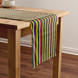 Primary Colors-SKINNY STRIPES-COTTON TABLE RUNNER