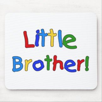 Primary Colors Text Little Brother Mouse Pads